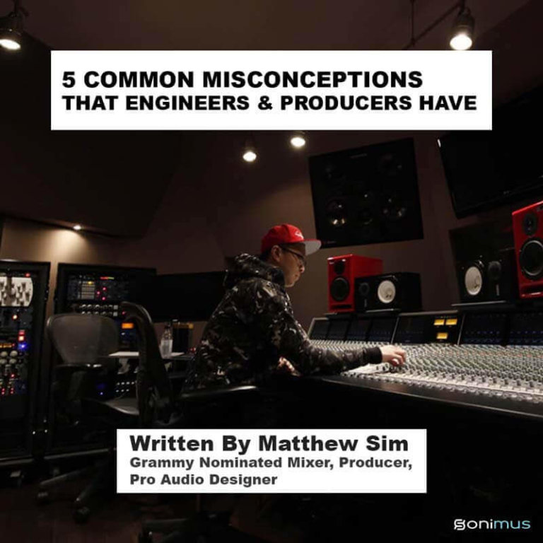 5 COMMON MISCONCEPTIONS IN AUDIO MIXING